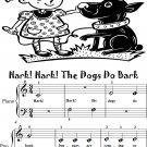 Hark Hark the Dogs Do Bark Beginner Piano Sheet Music