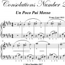 Consolations Number 2 Easy Piano Sheet Music