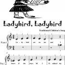 Ladybird Ladybird Beginner Piano Sheet Music