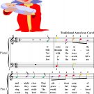 It Came Upon a Midnight Clear Easy Piano Sheet Music Easy Piano Sheet Music with Colored Notes
