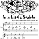 In a Little Stable Easy Piano Sheet Music