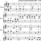 Hallelujah Chorus the Messiah Beginner Piano Sheet Music