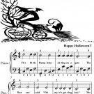 Five Little Pumpkins Easy Piano Sheet Music