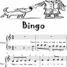 Bingo Beginner Piano Sheet Music
