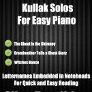 A Creepy Halloween Kullak Solos for Easy Piano