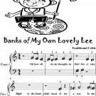 Banks of My Own Lovely Lee Traditional Celtic Beginner Piano Sheet Music