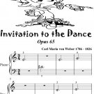 Invitation to the Dance Opus 65 Beginner Piano Sheet Music