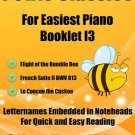 Petite Classics for Easiest Piano Booklet I3