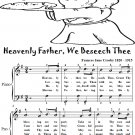 Heavenly Father We Beseech Thee Easiest Piano Sheet Music