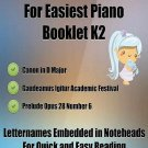 Petite Classics for Easiest Piano Booklet K2