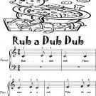 Rub a Dub Dub Beginner Piano Sheet Music