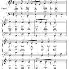 See How Great a Flame Aspires Easy Piano Sheet Music