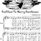 God Rest Ye Merry Gentlemen Easy Piano Sheet Music Tadpole Edition