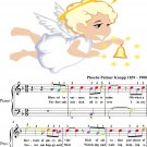 Blessed Assurance Easy Piano Sheet Music with Colored Notation