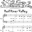 Red River Valley Beginner Piano Sheet Music
