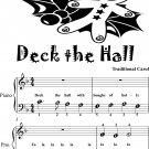 Deck the Hall Beginner Piano Sheet Music