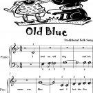 Old Blue Beginner Piano Sheet Music