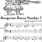 Hungarian Dance Number 1 Beginner Piano Sheet Music Tadpole Edition
