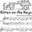 Kitten On the Keys Beginner Piano Sheet Music