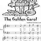 Golden Carol Easy Piano Sheet Music Tadpole Edition