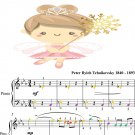 Chocolate Spanish Dance the Nutcracker Suite Easy Piano Sheet Music with Colored Notes