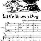 Little Brown Dog Beginner Piano Sheet Music