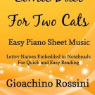 Comic Duet for Two Cats Easy Piano Sheet Music