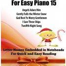 Christmas Treasures for Easy Piano Volume 15 Sheet Music