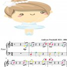 Dance of the Hours Easy Piano Sheet Music with Colored Notes