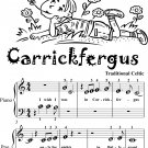 Carrickfergus Beginner Piano Sheet Music