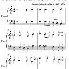 Ich Dank Dir Lieber Herre BWV 347 Easy Piano Sheet Music