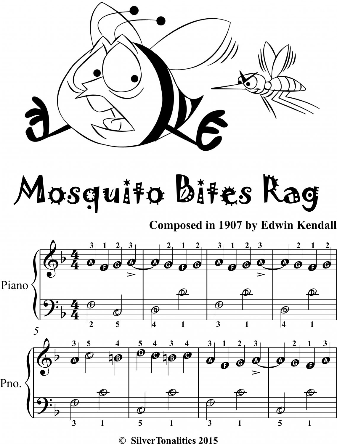 Mosquito Bites Rag Easiest Piano Sheet Music 2nd Edition