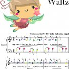 Missouri Waltz Easy Piano Sheet Music with Colored Notes