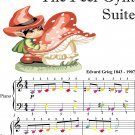 In the Hall of the Mountain King Peer Gynt Suite Beginner Piano Sheet Music with Colored Notation