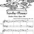 Tender Flower Tendre Fleur Opus 100 Easiest Piano Sheet Music