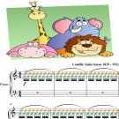 Finale Carnival of the Animals Easy Piano Sheet Music with Colored Notation