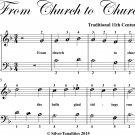 From Church to Church Easy Piano Sheet Music
