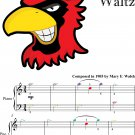 Black Hawk Waltz Easiest Piano Sheet Music with Colored Notes