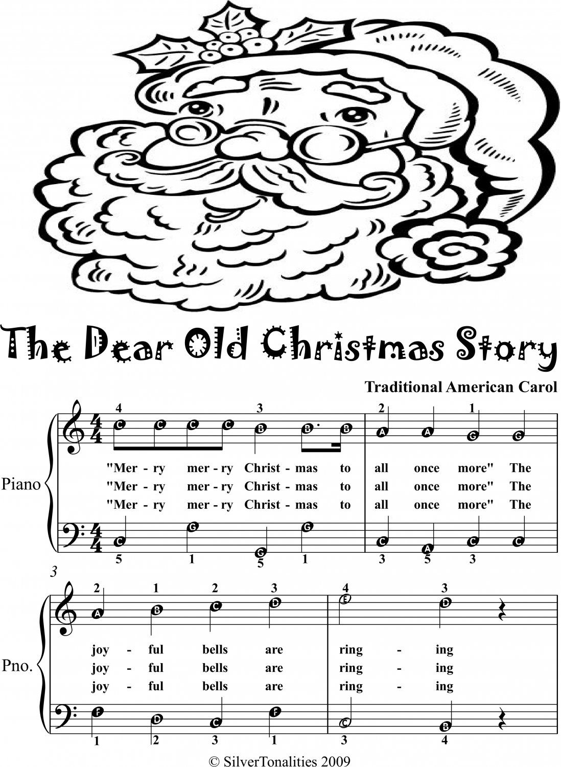 Dear Old Christmas Story Easy Piano Sheet Music 2nd Edition