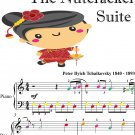 Chinese Dance Nutcracker Suite Easy Piano Sheet Music with Colored Notes