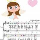 Count Your Blessings Easy Piano Sheet Music with Colored Notes