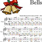 Carol of the Bells Elementary Piano Sheet Music with Colored Notes