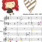 Hungarian Dance Number 5 Beginner Piano Sheet Music with Colored Notes