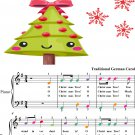 O Christmas Tree Easiest Piano Sheet Music with Colored Notes