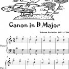 Canon in D Major Easiest Piano Sheet Music