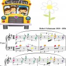 From Foreign Lands and People Kinderscenen Easy Piano Sheet Music with Colored Notes