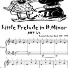 Little Prelude In D Minor Bwv 926 Easiest Piano Sheet Music