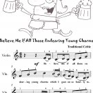 Believe Me If All Those Endearing Young Charms Easy Violin Sheet Music