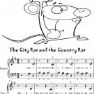 The City Rat and the Country Rat Beginner Piano Sheet Music