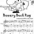 Bowery Buck Rag Easiest Piano Sheet Music for Beginner Pianists